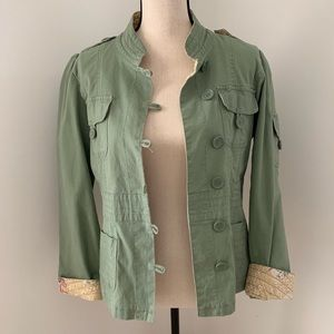 Tulle Size L Green Jacket,Great Embroidery on back
